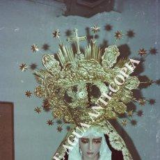 Fotografía antigua: VIRGEN DE LA SEMANA SANTA DE MÁLAGA. CLICHÉ-NEGATIVO ORIGINAL. PRINCIPIOS DE LOS AÑOS 80.. Lote 59480851