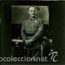 Fotografía antigua: FRANCISCO FRANCO. RETRATO OFICIAL POR JALON ANGEL. TRANSPARENCIA EN CRISTAL PARA OBTENER GRANDES..... Lote 176335657
