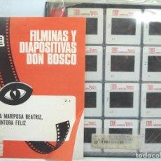 Fotografía antigua: 24 FILMINAS Y DIAPOSITIVAS DON BOSCO 1982 - LA MARIPOSA BEATRIZ PINTORA FELIZ - DIAPOSITIVA . Lote 69571698