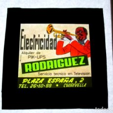 Fotografia antica: DIAPOSITIVA CINE ,PUBLICIDAD, CELULOIDE ,ANTIGUA , ORIGINAL, VALENCIA,CHIRIVELLA, ELECTRICIDAD -U. Lote 64921490