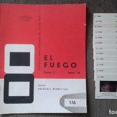 Fotografía antigua: 13 DIAPOSITIVAS CON LIBRETO - TEMÁTICA EL FUEGO - UNID. DIDÁCTICA CON ILUSTRACIONES DE ÉPOCA - 1967. Lote 66280354