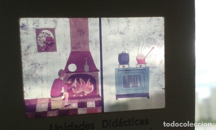 Fotografía antigua: 13 diapositivas con libreto - Temática El Fuego - Unid. didáctica con ilustraciones de época - 1967 - Foto 5 - 66280354