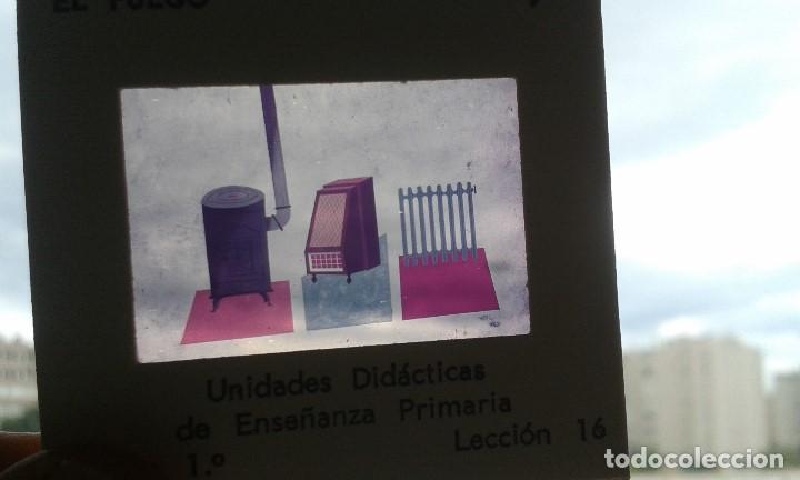 Fotografía antigua: 13 diapositivas con libreto - Temática El Fuego - Unid. didáctica con ilustraciones de época - 1967 - Foto 6 - 66280354