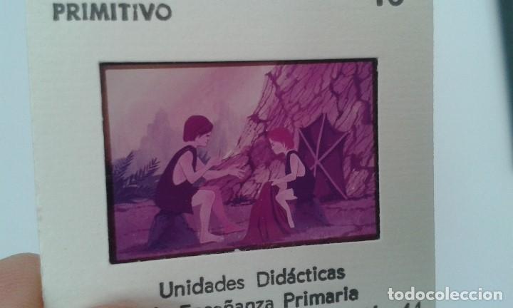 Fotografía antigua: 16 diapositivas y libreto - LA VIDA DEL HOMBRE PRIMITIVO - ilustraciones de época, 1967 - Ver fotos - Foto 6 - 66486374