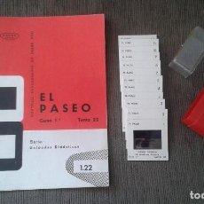 Fotografía antigua: EL PASEO - 12 DIAPOSITIVAS, LIBRETO Y ESTUCHE - ILUSTRACIONES DE ÉPOCA - 1967 - VER FOTOS. Lote 67385377