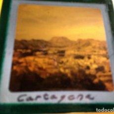 Fotografía antigua: CARTAGENA, MURCIA, ANTIGUA DIAPOSITIVA EN CRISTAL CON MARCO, GLAS LANTERN SLIDE, MEDIDAS 7 X 7 CM. Lote 67657505