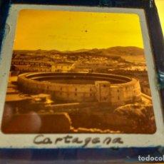 Fotografía antigua: CARTAGENA, MURCIA, ANTIGUA DIAPOSITIVA EN CRISTAL CON MARCO, GLAS LANTERN SLIDE, MEDIDAS 7 X 7 CM. Lote 67658005
