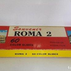 Fotografía antigua: ALBUM DE 60 DIAPOSITIVAS DE ROMA - MADE IN ITALY - KODAK. Lote 68213773