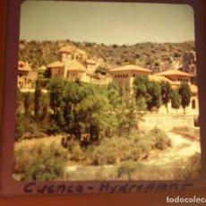 Fotografía antigua: CUENCA, HIDROPLANT, ANTIGUA DIAPOSITIVA EN CRISTAL, MEDIDAS 7X7 CM. Lote 19217173