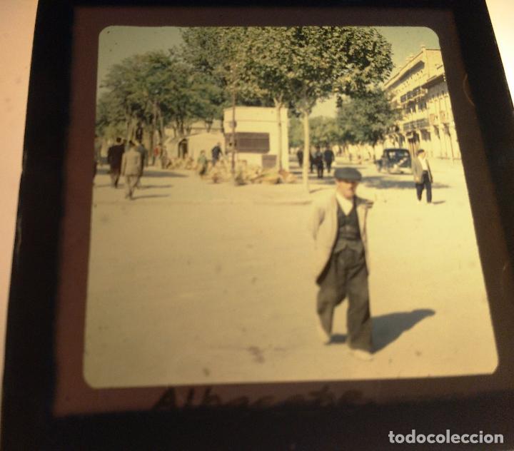 albacete, antigua diapositiva cristal con marco - Comprar ...