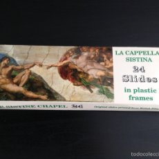 Fotografia antica: CAPILLA SIXTINA CAPELLA SISTINA 24 DIAPOSITIVAS. Lote 68974429