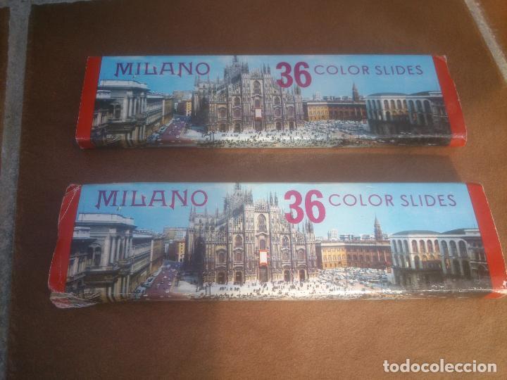 DIAPOSITIVAS COLOR - MILANO1 Y 2 ITALIA - EN ESTUCHE - SOUVENIR KODAK (Fotografía Antigua - Diapositivas)