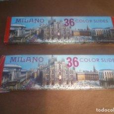 Fotografía antigua: DIAPOSITIVAS COLOR - MILANO1 Y 2 ITALIA - EN ESTUCHE - SOUVENIR KODAK. Lote 72428671