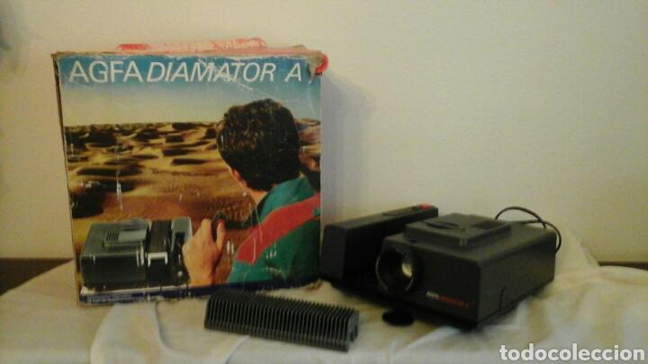 Fotografía antigua: Proyector de diapositivas Agfa Diamator A años 80 - Foto 2 - 73565813