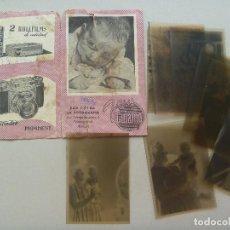 Fotografía antigua: FUNDA DE NEGATIVOS DE TALLERES GUIAMO, SEVILLA , CON 8 NEGATIVOS DE NIÑOS , ETC. Lote 78303329