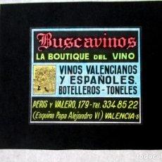 Fotografía antigua: DIAPOSITIVA PARA CINE ,PUBLICIDAD, CELULOIDE ,ANTIGUA , ORIGINAL, VALENCIA,VINO-AO. Lote 79843473