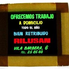 Fotografía antigua: DIAPOSITIVA PARA CINE ,PUBLICIDAD, CELULOIDE ,ANTIGUA , ORIGINAL, VALENCIA,TRABAJO-AO. Lote 79843597