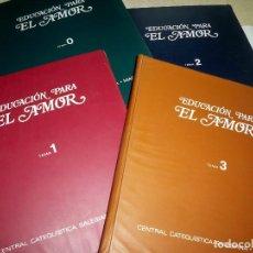 Fotografía antigua: COLECCION EDUCACION PARA EL AMOR LIBRO Y DIAPOSITIVAS COMPLETA DON BOSCO CATEQUISTA SALESIANA. Lote 82938456