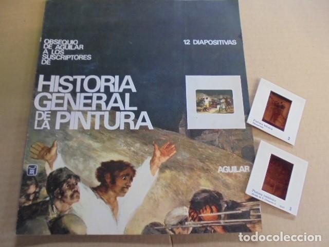 12 DIAPOSITIVAS Hª GENERAL DE LA PINTURA - AGUILAR - AÑO 1968 - SIN USAR - DE TIENDA (Fotografía Antigua - Diapositivas)