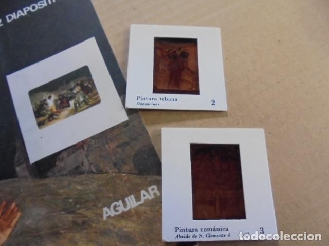 Fotografía antigua: 12 DIAPOSITIVAS Hª GENERAL DE LA PINTURA - AGUILAR - AÑO 1968 - SIN USAR - DE TIENDA - Foto 3 - 83342376