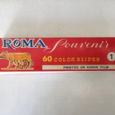 Fotografía antigua: 60 COLOR SLIDES. DIAPOSITIVAS DE ROMA. H. 1960?. KODAK FILM.. Lote 83475895