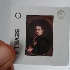 Fotografía antigua: DIAPOSITIVA MILITAR ESPAÑA SIGLO XIX. AUTORRETRATO CARLOS VII DE BORBON.. Lote 83600564