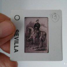 Fotografía antigua: DIAPOSITIVA MILITAR ESPAÑA SIGLO XIX. CARLOS VII DE BORBON.. Lote 83600964