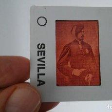 Fotografía antigua: DIAPOSITIVA MILITAR ESPAÑA SIGLO XIX. CARLOS VII DE BORBON.. Lote 83601304