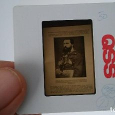 Fotografía antigua: DIAPOSITIVA MILITAR ESPAÑA SIGLO XIX. CARLOS VII DE BORBON.. Lote 83601396