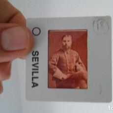 Fotografía antigua: DIAPOSITIVA MILITAR ESPAÑA SIGLO XIX. CARLOS VII DE BORBON.. Lote 83601672