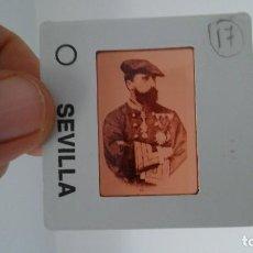 Fotografía antigua: DIAPOSITIVA MILITAR ESPAÑA SIGLO XIX. CARLOS VII DE BORBON.. Lote 83601748