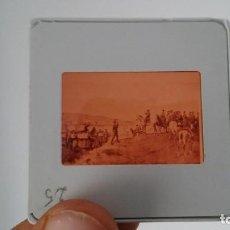 Fotografía antigua: DIAPOSITIVA MILITAR ESPAÑA SIGLO XIX. CARLOS VII DE BORBON.. Lote 83602196