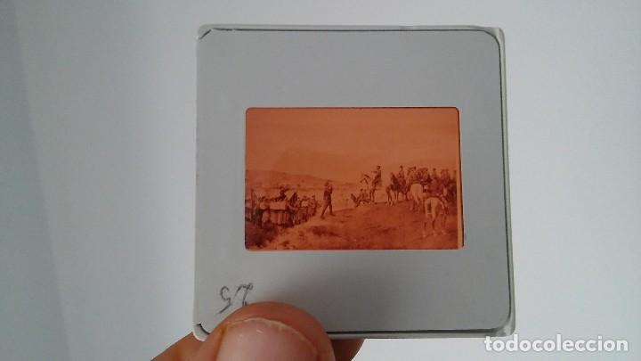 Fotografía antigua: DIAPOSITIVA MILITAR ESPAÑA SIGLO XIX. CARLOS VII DE BORBON. - Foto 2 - 83602196