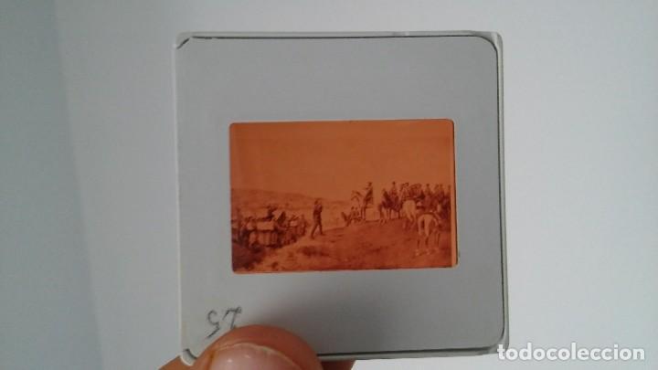 Fotografía antigua: DIAPOSITIVA MILITAR ESPAÑA SIGLO XIX. CARLOS VII DE BORBON. - Foto 3 - 83602196