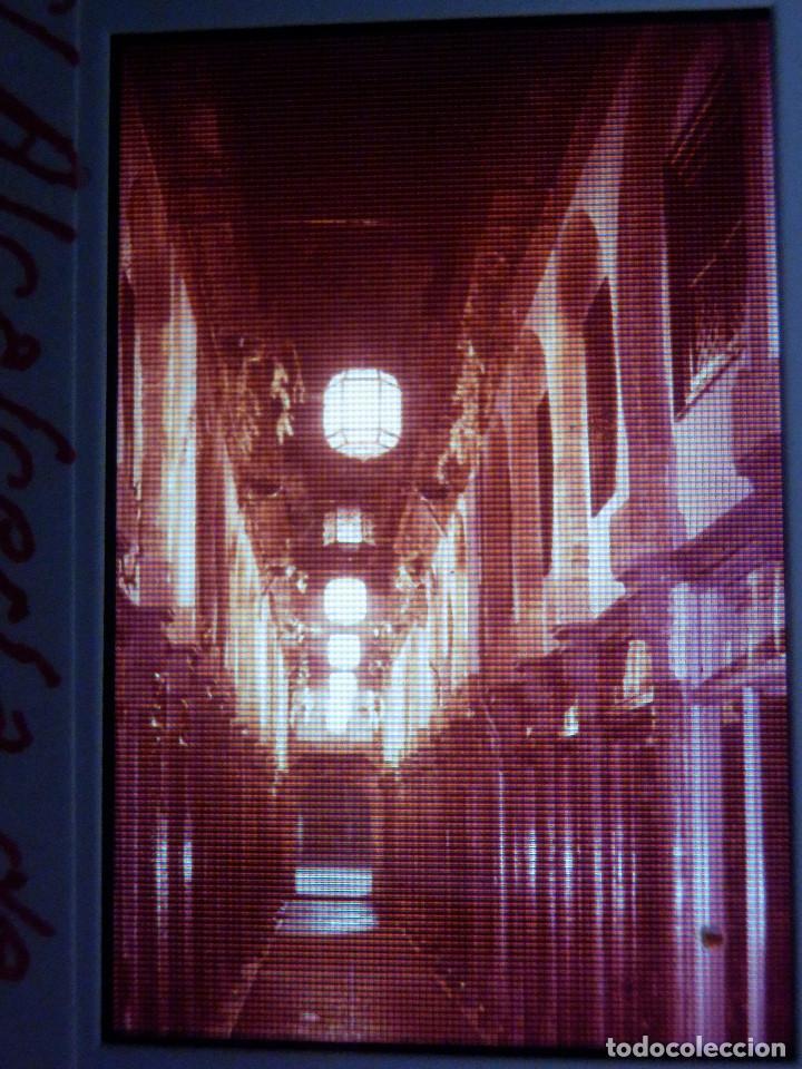 DIAPOSITIVA - FILMINA - 35 MM - MONTADA EN MARCO PROFESIONAL - GRANADA - CALLE ALCALCERIA DE NOCHE (Fotografía Antigua - Diapositivas)