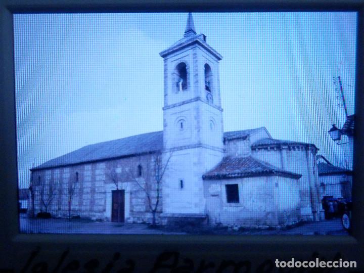DIAPOSITIVA - FILMINA - 35 MM - MONTADA MARCO PROFESIONAL - TALAMANCA DEL JARAMA- IGLESIA PARROQUIAL (Fotografía Antigua - Diapositivas)
