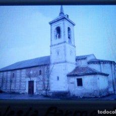 Fotografía antigua: DIAPOSITIVA - FILMINA - 35 MM - MONTADA MARCO PROFESIONAL - TALAMANCA DEL JARAMA- IGLESIA PARROQUIAL. Lote 84465952