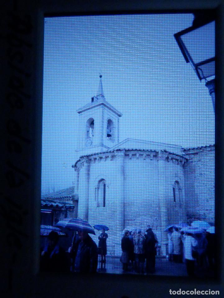 DIAPOSITIVA - FILMINA - 35 MM - MONTADA MARCO PROFESIONAL - TALAMANCA DEL JARAMA - ABSIDE IGLESIA (Fotografía Antigua - Diapositivas)