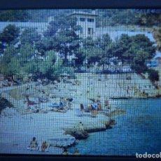 Fotografía antigua: DIAPOSITIVA - FILMINA - 35 MM - MONTADA MARCO PROFESIONAL - MALLORCA - CALA FORNELLS . Lote 84467060
