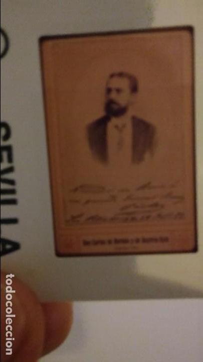 Fotografía antigua: EXCEPCIONAL DIAPOSITIVA CARLOS VII DE BORBON RETRATO Y FIRMA. - Foto 2 - 85083880