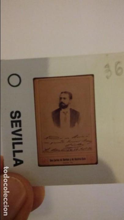 Fotografía antigua: EXCEPCIONAL DIAPOSITIVA CARLOS VII DE BORBON RETRATO Y FIRMA. - Foto 3 - 85083880