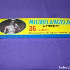 Fotografía antigua: 60 DIAPOSITIVAS COLOR MICHALANGELO MIGUEL ANGEL FLORENCIA KODAK FILM. Lote 88783976