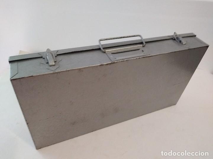 Fotografía antigua: archivador caja de metal o maletin diapositivas - Foto 4 - 93259525