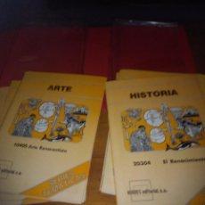 Fotografía antigua: CARPETA CON 9 LIBRETA, 24 DIAPOSITIVAS CADA UNA, INCOMPLETA. HISTORIA. HIARES EDITORIAL.. Lote 94104378