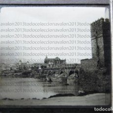 Fotografía antigua: CÓRDOBA - CRISTAL LINTERNA MÁGICA - VISTA PARCIAL DESDE EL PUENTE ROMANO - PRINCIPIOS SIGLO XX. Lote 94579635