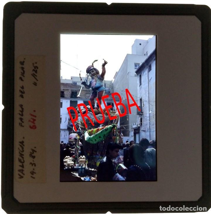 Fotografía antigua: VALENCIA FALLAS.DIAPOSITIVA DE LA FALLA DEL PILAR .1984 - Foto 2 - 100654379
