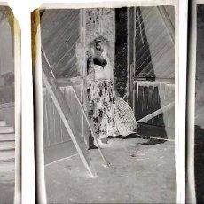 Fotografía antigua: AÑO 1919 - MONCLOA - LOTE DE 3 NEGATIVOS DE FOTOGRAFÍA - MADRID. SEÑORA EN JARDÍN.. Lote 100655459