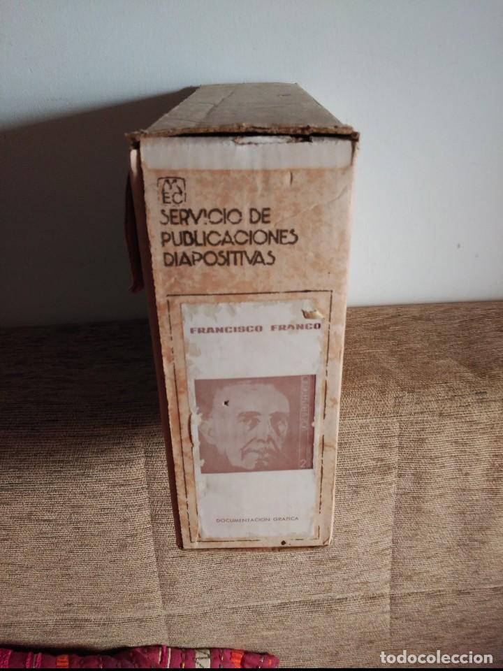 CONJUNTO DE 261 DIAPOSITIVAS VIDA DE FRANCO SERVICIO DE PUBLICACIONES HOJAS EXPLICATIVAS Y FUNDAS (Fotografía Antigua - Diapositivas)