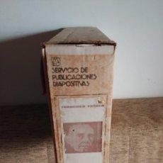 Fotografía antigua: CONJUNTO DE 261 DIAPOSITIVAS VIDA DE FRANCO SERVICIO DE PUBLICACIONES HOJAS EXPLICATIVAS Y FUNDAS. Lote 104025331