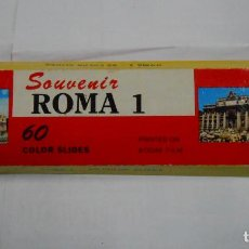 Fotografía antigua: LOTE DE 60 FOTOGRAFIAS DIAPOSITIVAS DE ROMA CIUDAD. SOUVENIR 60 COLOUR SLIDES. PB30. Lote 107494491